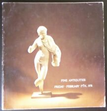 Auction Catalogue Sotheby's New York Fine Antiquities February 17, 1978 Egyptian