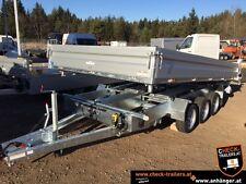 Humbaur 3-Seitenkipper Tridem, Hochlader, Transporter, Kipper, Ges. 3.000 kg
