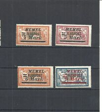 Memel, Klaipeda, Litauen,1922 Michelnrn: 104-107 *, ungebraucht, Michelwert € 7