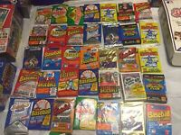 Old Baseball Cards, 100 Cards In Unopened Packs + Bonuses, Nice Lot, Untouched