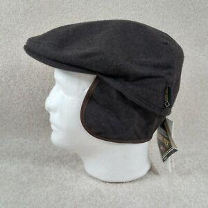 Gottmann Caps And Hats Men's XL Newsboy Cap Brown Wool Nylon Neck Flap NWT