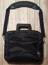 """Dell Black Laptop Briefcase Bag Travel Carry On Shoulder Strap Up to 14"""" Screen"""