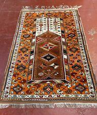 VINTAGE ANTIQUE TURKISH MELAS 100% WOOL ESTATE PRAYER RUG 4x6