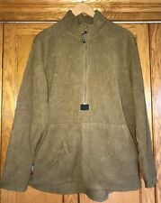 GENUINE USMC POLARTEC FLEECE 1/2 Zip PULLOVER JACKET Coat Coyote Brown S M L