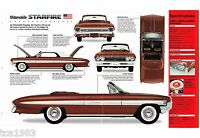 1961 Oldsmobile STARFIRE convertible SPEC SHEET / Brochure