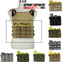 MOLLE Tactical Triple Stacker 5.56 Magazine MAG Ammo Pouch Bag For Hunt Vest