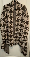 Cocogio Wool Alpaca-Blend Cardigan Coat,Coatigan, Ladies M UK12/14 Brown Beige