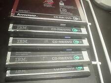 Lot of 5 IBM Lenovo Media Drives  CD-RW DVD-ROM Combo Drives
