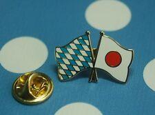Freundschaftspin Bayern Japan Pin Button Badge Fahne