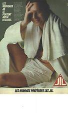 PUBLICITE  1983  JIL les nouveaux sous vetements slip caleçons
