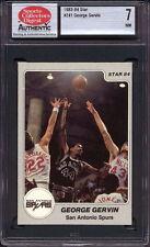 1983-84 STAR CO. #241 GEORGE GERVIN (HOFer) SAN ANTONIO SPURS SCD 7 NM