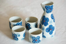 5 Pieces Japanese Sake Set With Gift Box - Butterfly