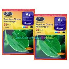 50 Sheets Quality A4 Gloss 180 gsm Glossy Photo Paper