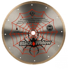 QEP 6-1008BW 10-Inch Black Widow Micro-Segmented Rim Diamond Blade, 5/8-Inch Arb