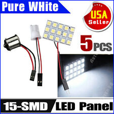 5X T10/194&1141/1156/BA15S Car RV Trailer 15SMD Interior LED Light Panel 12V
