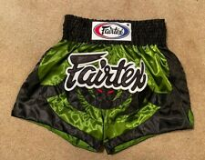 Fairtex Bat Muay Thai Shorts Black/Green Mens Medium Pre-owned