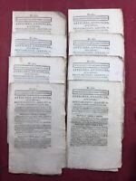 Journal de Douai 1803 Rare Lot Journaux Consulat Feuille de Douai Nord