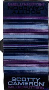 NWT SCOTTY CAMERON GALLERY Noche Serape Blue Purple Players Towel Golf 39 X 17