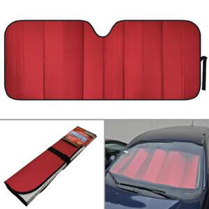 Auto Sunshade Red Foil Reflective Sun Shade for Car Cover Visor Jumbo Size