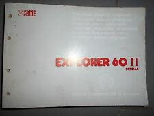Same EXPLORER II 60 Special 1990 : catalogue de pièces