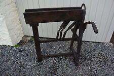Magnifique presse coupe tabac en bois 1900 meuble de métier 2