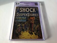 SHOCK SUSPENSTORIES 5 CGC 6.0 PRE CODE HORROR EC COMICS WALLY WOOD HANGING COVER