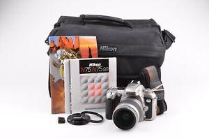 EXC+++ NIKON N75 35mm SLR BUNDLE w/NIKON AF 28-80mm ZOOM, SHOULDER BAG, MANUALS