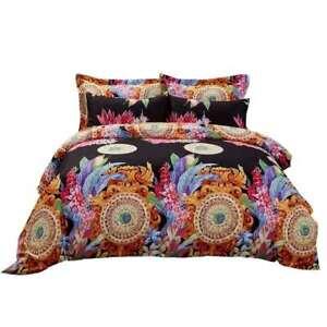 6 Piece Queen size Duvet Cover Set Fitted Sheet Luxury Bedding Dolce Mela DM712Q