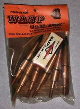 Nos Wasp 4 Blade Cam-Lok Hunting Broadhead w/ Replacement Blades - 6ct