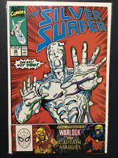 SILVER SURFER (1987 2nd Series) #36 FN/VF 7.0 INFINITY GAUNTLET: PRELUDE: THANOS