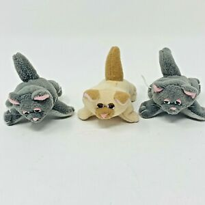VTG 1995 POUND PUPPIES PURRIES Plush Lot of 3 Mini Kittens Cats