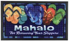 Hawaiian Rug Bath Floor Door Mat Mahalo Slippers Hawaii Island Home Decor NIB