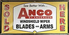 ANCO WIPERS VINTAGE AUTOMOTIVE SIGN OLD SCHOOL DISPLAY BANNER GARAGE ART 2 X 4