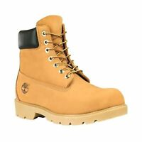 18094 Timberland Mens 6-Inch Basic Waterproof Boot with Padded Collar Wheat 7-13
