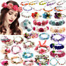 Women Wedding Boho Flower Hair Garland Crown Headband Floral Wreath Headwear Lot