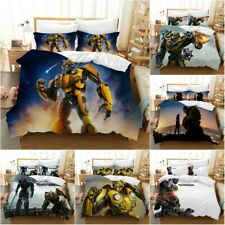 Transformers Bumblebee Quilt Cover Bedding Set 3PCS Duvet Cover Pillowcase