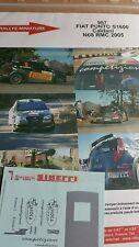 DECALS 1/18 REF 987 FIAT PUNTO S1600 CALDANI RALLYE MONTE CARLO 2005 RALLY WRC