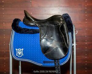 "Kieffer 2000 Dressage Saddle (Size 1 - 17"") - good condition, new girth points"