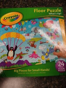 "Crayola Playful Counting Floor Puzzle ""What's up?""  24 Pieces NEW"