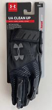 Under Armour Ua Clean Up Batting Gloves Black/Black Ymd Youth Medium 1299531 002