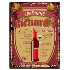 PMWT0007 RICHARD'S Wine Tasting Rustic Tin Chic Sign Home Decor Gift Ideas