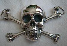 bone skull memento mori pendant SILVER 925