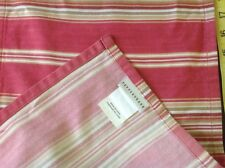 Pottery Barn Hudson Stripe Cafe Valance Coral Tie Top 44 x 13 Curtain - 3 Avail