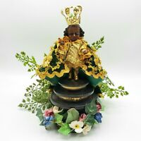 Vintage Santo Niño de Cebu Infant Jesus Prince Prague Holy Religious Statue CMAS
