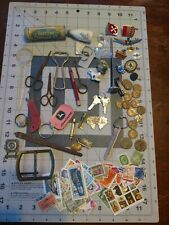 Junk Drawer Lot - Coins, Stamps, Miscellaneous