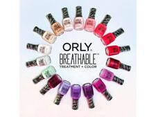 Lot of (20) ASSORTED ORLY BREATHABLE TREATMENT + COLOR NAIL POLISH - No Repeats!