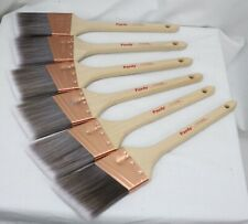 """6 Purdy XL Dale Paint Brushes 2.5"""" Angled All Paints Lot Unused Copper Ferrule"""