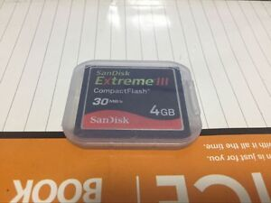 SanDisk Extreme III    compact flash card  SDCFX  30MB/S   4gb  CF Memory CARD