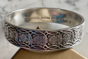 Rare Tiffany & Co. Sterling Silver Makers Celtic Bangle Bracelet, 7.5""