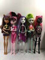 Monster High - 5 Doll Lot (no shoes) - Used